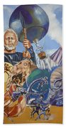 Ray Harryhausen Tribute The Mysterious Island Beach Towel