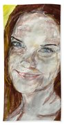 Rayah Newman, Portrait Beach Towel