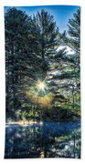Rays Of Light On The Androscoggin River Beach Towel