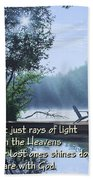 Rays Of Light - Place To Ponder Beach Towel