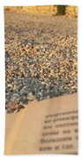 Reading A Book On Pebble Beach Beach Sheet