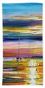 Real Sunset Beach Towel
