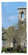 Rear View Fuerty Church And Cemetery Roscommon Ireland Beach Sheet