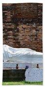 Reclining Buddha Beach Towel