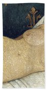 Reclining Female Nude Beach Towel