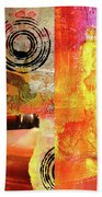 Reconstruction Abstract Beach Towel