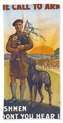 Recruitment Poster The Call To Arms Irishmen Dont You Hear It Beach Towel