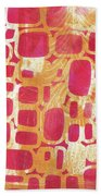 Rectangles And Jangles Beach Towel