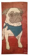 Recycled Pug Beach Towel