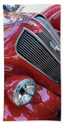 Red 1938 Plymouth Beach Towel