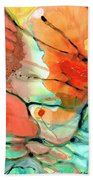Red Abstract Art - Decadence - Sharon Cummings Beach Towel
