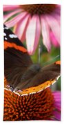 Red Admiral Butterfly Beach Towel