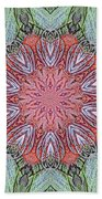 Red Amaryllis Trio Kaleidoscope Beach Towel