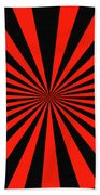 Red And Black Abstract #3 Beach Towel