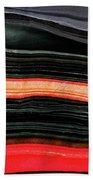 Red And Black Art - Fire Lines - Sharon Cummings Beach Sheet