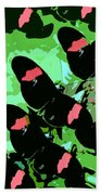 Red And Black Beauties Beach Towel