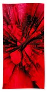 Red And Black Explosion Beach Towel