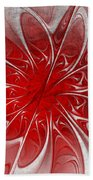 Red And Black  -f D- Beach Towel