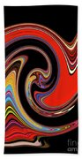 Red And Black Stream  Beach Towel