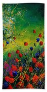 Red And Blue Poppies 67 1524 Beach Towel