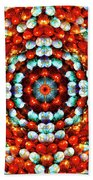 Red And Blue Stones Beach Towel