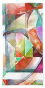 Red And Green Beach Towel by Mindy Newman