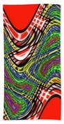 Red And Green Thing Beach Towel