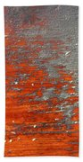 Red And Grey Abstract Beach Towel
