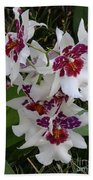 Red And Purple Orchids Beach Towel