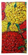 Red And Yellow Garden Beach Towel