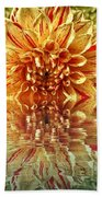 Red And Yellow Reflection Beach Towel