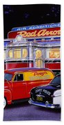 Red Arrow Diner Beach Towel