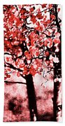 Red Aspen II Beach Towel