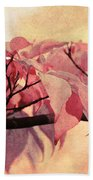 Red Autumn Day Beach Towel