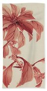 Red Autumnal Leaves Beach Towel