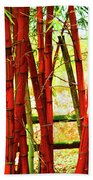 Red Bamboo Beach Sheet