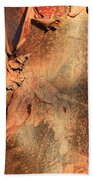 Red Bark Nature Abstract Beach Towel