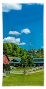 Red Barn On Hoyt Road Beach Towel