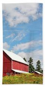 Red Barn Beach Towel