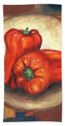 Red Bell Peppers Beach Towel