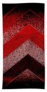 Red Black Chevron Beach Towel