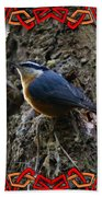 Red Breasted Nuthatch 2 Beach Towel