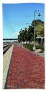 Red Brick Walkway Beach Towel