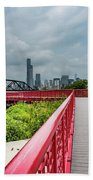 Red Bridge To Chicago Beach Towel