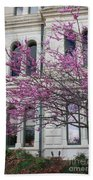 Red Buds And San Antonio City Hall Beach Towel