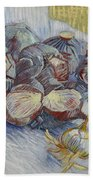 Red Cabbages And Onions Paris, October - November 1887 Vincent Van Gogh 1853  1890 Beach Towel