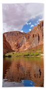 Red Canyon Reflections Beach Towel
