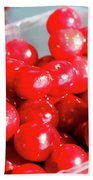 Red Cherries Beach Towel
