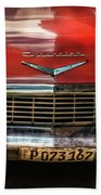 Red Chevrolet Beach Towel