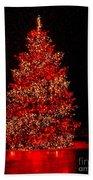 Red Christmas Tree Beach Towel